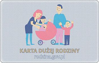 Karta Dużej Rodziny - awers