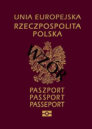 Paszport wzór - okładka